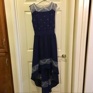 Altar'd State Blue Hi-Low Dress, Size Small